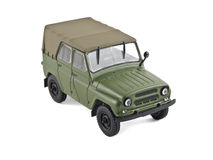 Old military car. Model of an old Russian military vehicle Stock Photo