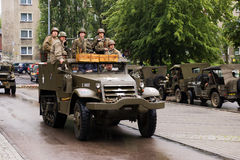 The old military car Stock Photography