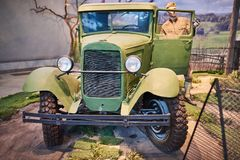 An old military car from the second world war stock image