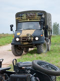 Old Military Car. Military transportation vehicle from 1950s Royalty Free Stock Photography