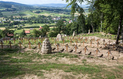 The old military cemetery form first world war in  Luzna Pustki Stock Photo