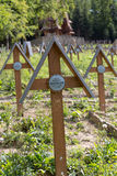 The old military cemetery form first world war in  Luzna Pustki- battle of Gorlice Stock Photography