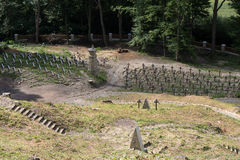 The old military cemetery form first world war in  Luzna Pustki- battle of Gorlice Stock Photo