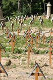 The old military cemetery form first world war in  Luzna Pustki- battle of Gorlice Stock Photos