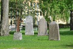 Old military cemetery in Lappeenranta Royalty Free Stock Image