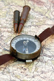 Old military compass Stock Photography