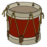 Old military drum Stock Image