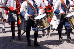 Old Military drummers Royalty Free Stock Photo