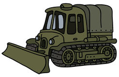 Old military engineer vehicle Stock Image