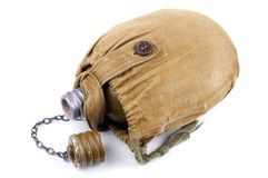 Old military flask royalty free stock photo