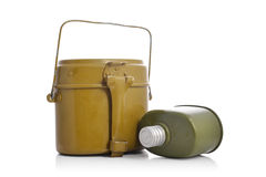 Old military flasks Royalty Free Stock Images