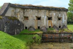Old military fort during the Second World War. royalty free stock photos