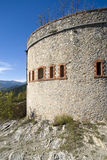 The old military fortification in Alps Stock Photography