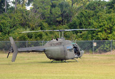 Old military helicopter Royalty Free Stock Photography