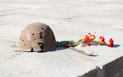 Old military helmet. Day of memory Royalty Free Stock Photography