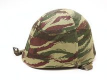 Old military helmet, side view. Royalty Free Stock Image