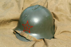 Old military helmet Stock Photography