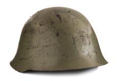 Old Military Helmet. On White Stock Photos