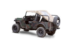Old military jeep Royalty Free Stock Image