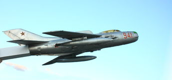 Old military jet fighter royalty free stock photography