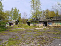 Old military in latvia. Old military base of Soviet army in Latvia Royalty Free Stock Photography