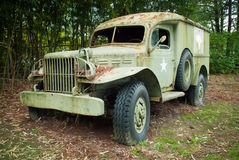 Old Military Medical Vehicle Stock Photo