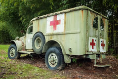 Old Military Medical Vehicle 2 Royalty Free Stock Photo