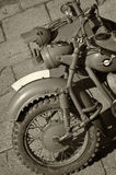 Old military motorcycle Royalty Free Stock Image
