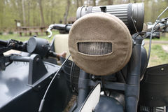 Old military motorcycle Royalty Free Stock Photo