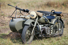 Old military motorcycle Royalty Free Stock Photography