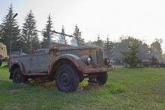 Old military off-road vehicle Royalty Free Stock Photo