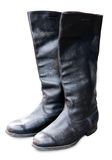 Old military officer boots Royalty Free Stock Image