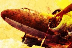 Old military plane Royalty Free Stock Images