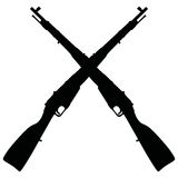 Old military rifles Royalty Free Stock Photography