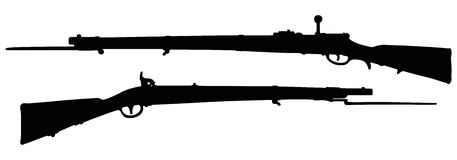 Old military rifles Royalty Free Stock Photo