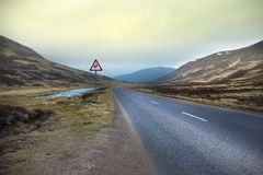 Old Military Road. Cairngorms National Park. Aberdeenshire, Scotland, UK stock photo