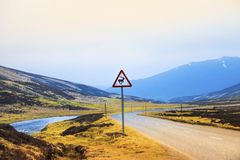 Old Military Road. Cairngorms National Park. Aberdeenshire, Scotland, UK. Old Military Road. Cairngorm National Park. Braemar, Aberdeenshire, Scotland, UK. Royal stock photos