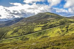Old Military Road. Cairngorms National Park. Aberdeenshire, Scotland, UK. Old Military Road. Cairngorm National Park. Braemar, Aberdeenshire, Scotland, UK. Royal stock image