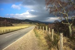 Old Military Road. Cairngorms National Park. Aberdeenshire, Scotland, UK stock photos