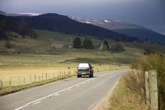 Old Military Road. Cairngorms National Park. Aberdeenshire, Scotland, UK royalty free stock photo