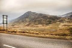 Old Military Road. Cairngorms National Park. Aberdeenshire, Scotland, UK. Old Military Road. Cairngorm National Park. Braemar, Aberdeenshire, Scotland, UK. Royal royalty free stock image