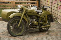 Old military russian motorcycle Royalty Free Stock Image