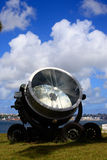 Old military searchlight Stock Image