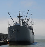 Old military ship Stock Photo
