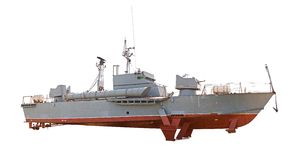 Old military ship Royalty Free Stock Images