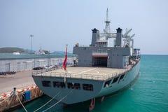 Old military ship Royalty Free Stock Photos