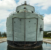 Old military ship. Royalty Free Stock Images