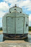 Old military ship. Stock Photo