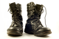 Old military shoes Royalty Free Stock Images