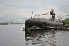 Old military submarine Stock Photo
